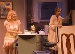 NICK  SHOOB - Life and Death: Marlo Thomas (as Doreen) and Julia Brothers (as Carla) in the one-act George Is Dead.