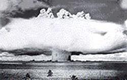 Light's Baker, 21 kilotons, Bikini - Atoll, 1946.