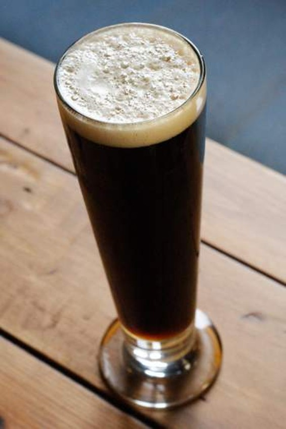 Linden Street Brewery's black lager. - IANN IVY