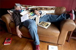 JOSEPH SCHELL - Litquake cofounder Jack Boulware catches up on some reading.