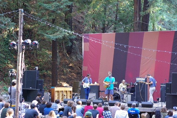 Little Wings performing at Woodsist Festival in Big Sur. Photos by the author.