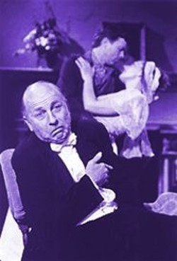 DAVID  ALLEN - Lively Humor and Grace: Charles Dean (foreground) with Simon Vance and Susan-Jane Harrison in The Philanderer.