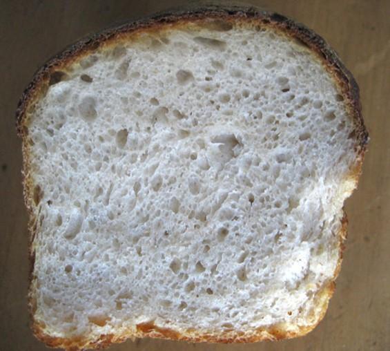 Looks like sandwich bread, tastes like a rustic pain de campagne. - JONATHAN KAUFFMAN