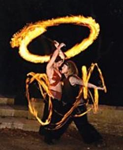 WALDEMAR  HOROWITZ - Los Sueos del Fuego light up the In the - Street Festival.
