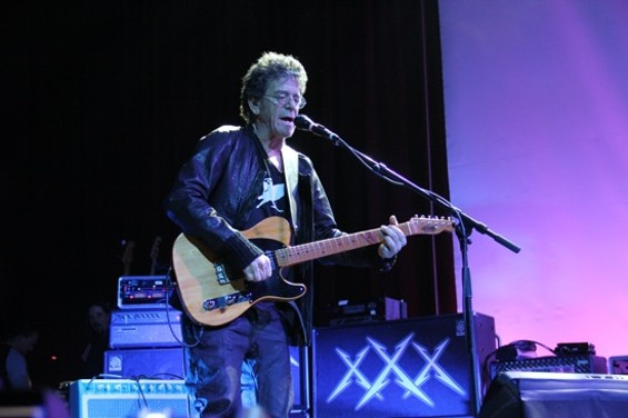Lou Reed performing at the Fillmore with Metallica in 2011. - JEFF YEAGER