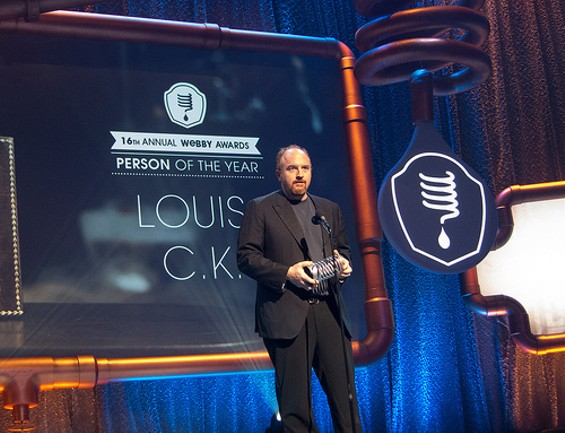 Louis C.K. accepts the Person of the Year Award. - FLICKR/SCOTT BEALE