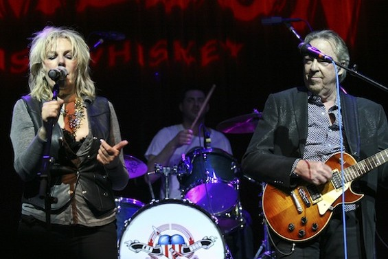 Lucinda Williams and Boz Scaggs at Petty Fest - CHRISTOPHER VICTORIO