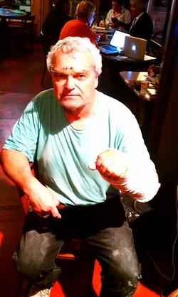 Luckily, a bystander loaned Franjo Vernic a hand after he broke his... - JOE ESKENAZI