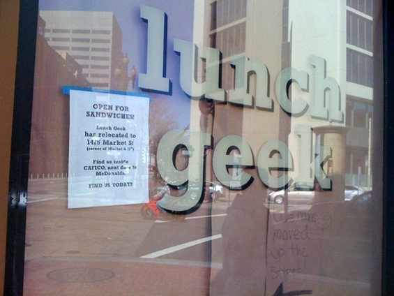 Lunch Geek has left the building (and moved to smaller digs). - JONATHAN KAUFFMAN