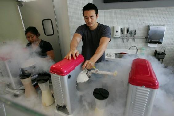 Mad scientist's laboratory? No, just Cryo Cream. - MIKE KOOZMIN/THE S.F. EXAMINER