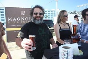 Magnolia's Dave McLean was one of seven Brewers Guild members pouring suds. - BRIAN YAEGER