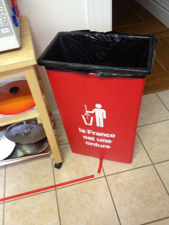 Makeshift design tips to thwart drunken urinators the for Spray paint plastic trash can