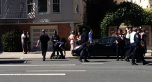 Man falls from rooftop during Bay to Breakers - SCREEN-GRAB/KTVU