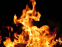 Man killed in blaze