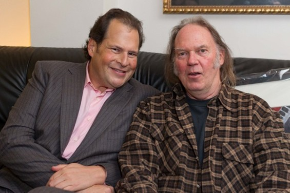 Marc Benioff and Neil Young