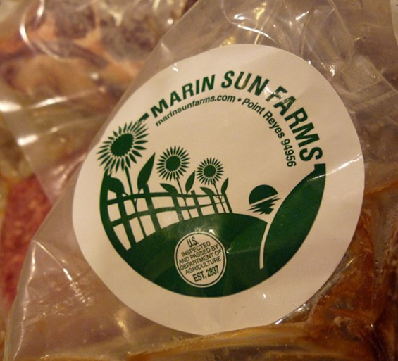Marin Sun Farms brine-cures its jerky for 48 hours, then air-dries it for five. - DUKEOFNYC/FLICKR