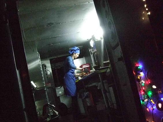 Marina Snetkova bakes on her truck, Cookie Time. - TAMARA PALMER