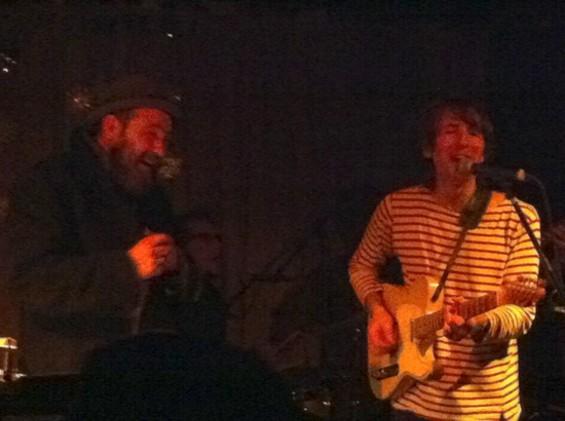 Mark Eitzel and Bart Davenport performing at the Hemlock Tavern last night - ROMANA MACHADO