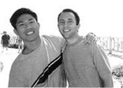 COURTESY OF JOEL ENGARDIO - Mark Lim, left, and the author.