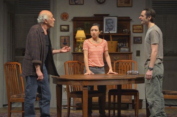 Mark Margolis (Gus), Tina Chilip (Sooze), and Joseph J. Parks (Vito) in The Intelligent Homosexual's Guide to Capitalism and Socialism with a Key to the Scriptures, - KEVIN BERNE