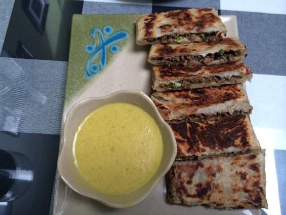 Martabak (crispy roti stuffed with minced meat, green onion and eggs) - PETE KANE