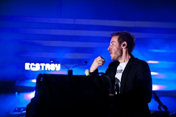 Massive Attack at the Greek Theatre Saturday night - RICHARD HAICK