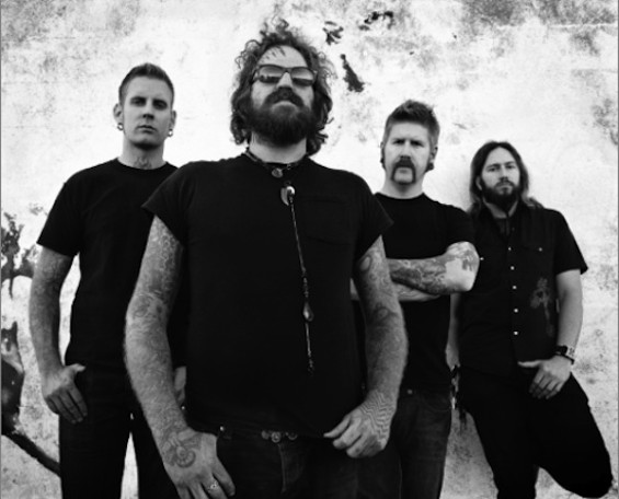 Mastodon, with Troy Sanders at front.