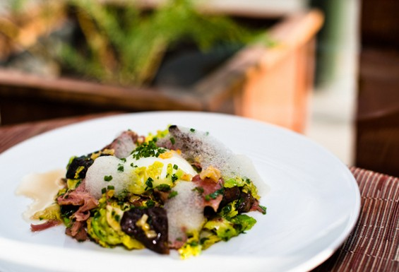 Matt Brimer's warm Brussels sprout dish was one of SFoodie's 92 favorite dishes this year. - ALBERT LAW/PORKBELLYSTUDIO