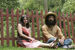 ANDREW  KESIN - Matt Valentine and Erika Elder: time-traveling trippers.