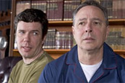 KENT TAYLOR - Matt Weimer (left) and Donald Currie in a scene from Past Perfect.