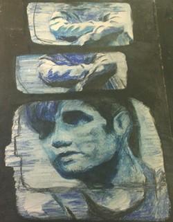 Matthew Shepard artwork found on BART - UNKNOWN ARTIST VIA BART