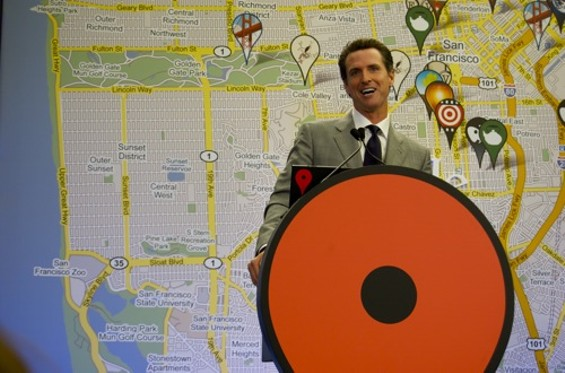 Mayor Gavin Newsom: bears striking resemblance to Will Arnett