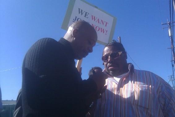 MC Hammer with ABU leader James Richards