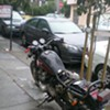 Seen In San Francisco: Motorcycle Converted to Recycling Bin