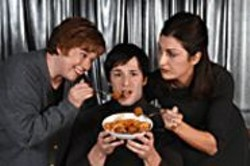 LOIS  TEMA - Meatballs cure everything, right? Cast members of - Mambo Italiano.