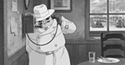 """""""Meet me at Brother-in-Laws!"""" Porco Rosso arranges a rendezvous."""