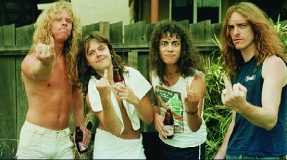 Metallica, way back when.
