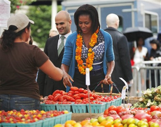 Michelle Obama proves that the White House is not in a food desert.