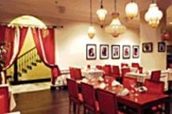 ANTHONY  PIDGEON - Middle Least: Saha's décor is pleasing, if - less glamorous than the nearby hotel lobby.