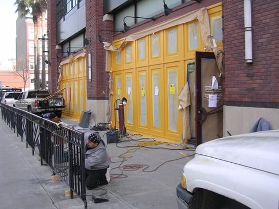 Mijita's vivid yellow Third Street exterior. - J. BIRDSALL