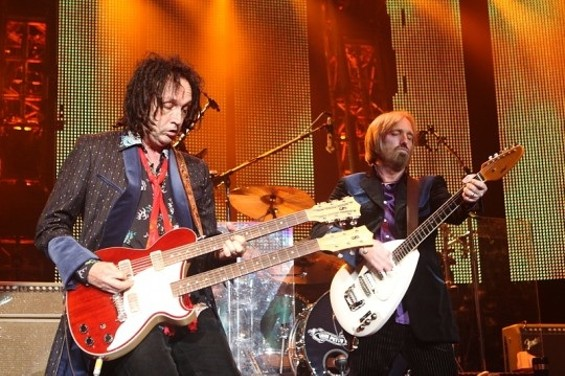 Mike Campbell (left), and Tom Petty rock it out. - CHRISTOPHER VICTORIO