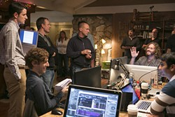 Mike Judge (center) revisits familiar tech territory.