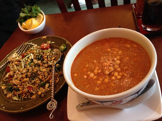 Mingalaba in Burlingame's Tea Leaf Salad and Moo Hing Nga - TREVOR FELCH