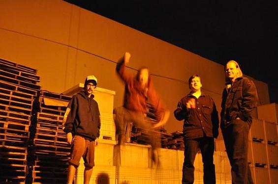 Minutemen tribute band Economen: Too econo to hold still.
