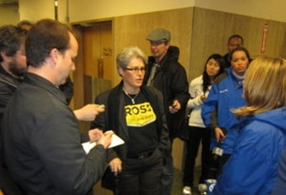Mirkarimi supporter Kary McElroy alleges a political conspiracy against the sheriff.