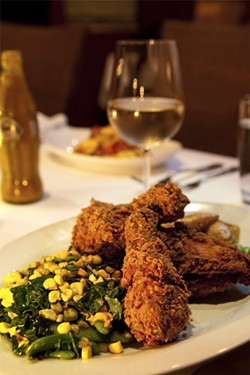 KIMBERLY SANDIE - Miss Ollie's fried chicken: So good, the chef will have to cook it to the end of her days.