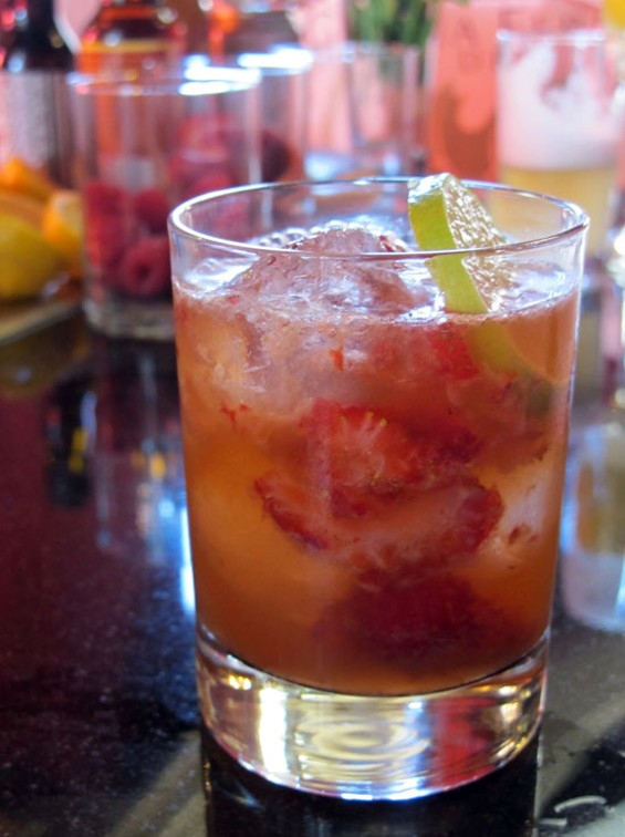 Missed summer? Have it by the glass in the Jalisco Cobbler. - LOU BUSTAMANTE