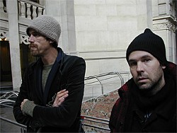 Mission Creek's Jeff Ray (right) and performer Lazarus.
