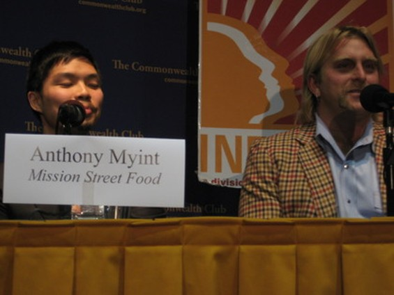Mission Street Food's Anthony Myint (left) with Magic Curry Kart's Brian Kimball. - M. BRODY