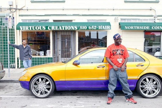 Mistah FAB near the corner of 45th and Market in Oakland. - JOSEPH SCHELL